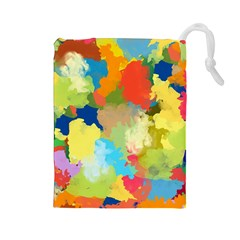 Summer Feeling Splash Drawstring Pouches (large)
