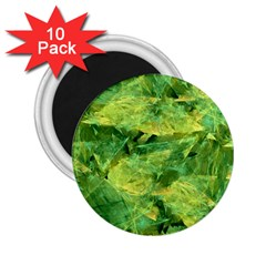 Green Springtime Leafs 2 25  Magnets (10 Pack)