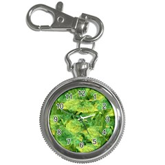 Green Springtime Leafs Key Chain Watches