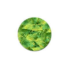 Green Springtime Leafs Golf Ball Marker (4 Pack)