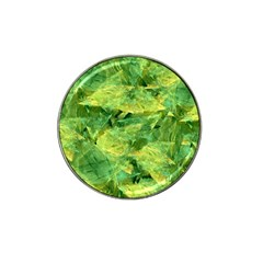 Green Springtime Leafs Hat Clip Ball Marker (4 Pack)