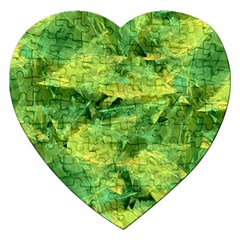 Green Springtime Leafs Jigsaw Puzzle (heart)