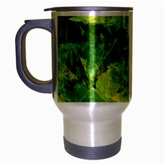 Green Springtime Leafs Travel Mug (silver Gray)