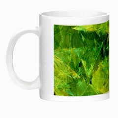 Green Springtime Leafs Night Luminous Mugs