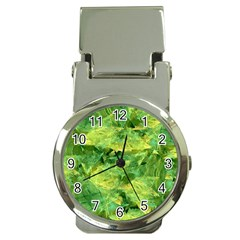 Green Springtime Leafs Money Clip Watches