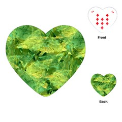 Green Springtime Leafs Playing Cards (heart)