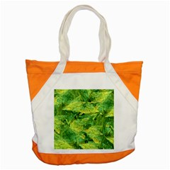 Green Springtime Leafs Accent Tote Bag