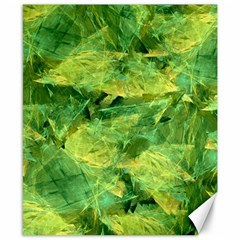 Green Springtime Leafs Canvas 8  X 10