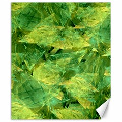 Green Springtime Leafs Canvas 20  X 24