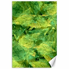 Green Springtime Leafs Canvas 24  X 36