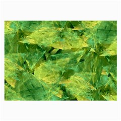 Green Springtime Leafs Large Glasses Cloth (2 Side)