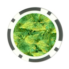 Green Springtime Leafs Poker Chip Card Guard
