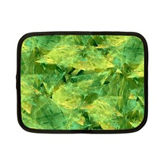 Green Springtime Leafs Netbook Case (small)