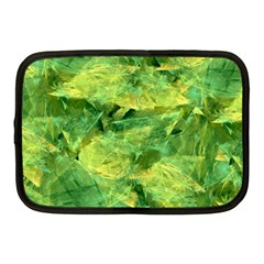 Green Springtime Leafs Netbook Case (medium)