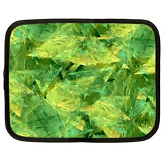 Green Springtime Leafs Netbook Case (large)