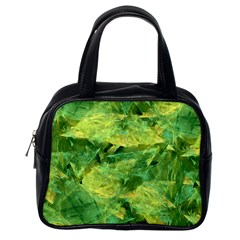 Green Springtime Leafs Classic Handbags (one Side)