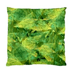 Green Springtime Leafs Standard Cushion Case (two Sides)