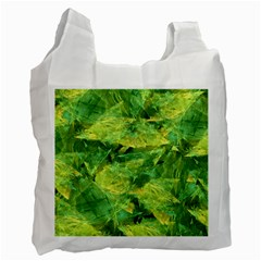 Green Springtime Leafs Recycle Bag (two Side)