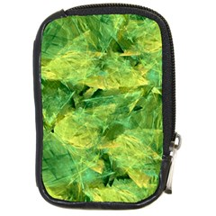Green Springtime Leafs Compact Camera Cases