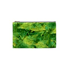 Green Springtime Leafs Cosmetic Bag (small)