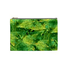 Green Springtime Leafs Cosmetic Bag (medium)