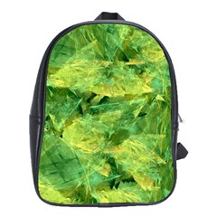 Green Springtime Leafs School Bag (large)
