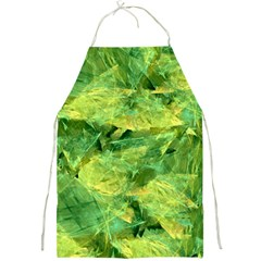 Green Springtime Leafs Full Print Aprons