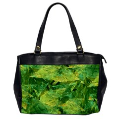 Green Springtime Leafs Office Handbags