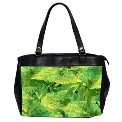 Green Springtime Leafs Office Handbags (2 Sides)