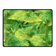 Green Springtime Leafs Fleece Blanket (small)