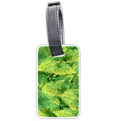 Green Springtime Leafs Luggage Tags (one Side)