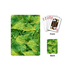 Green Springtime Leafs Playing Cards (mini)