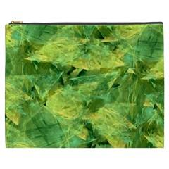 Green Springtime Leafs Cosmetic Bag (xxxl)