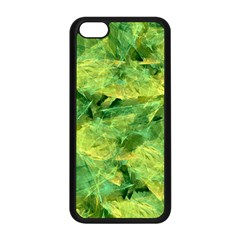 Green Springtime Leafs Apple Iphone 5c Seamless Case (black)