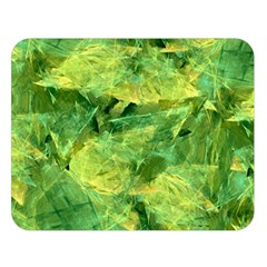 Green Springtime Leafs Double Sided Flano Blanket (large)
