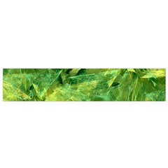 Green Springtime Leafs Flano Scarf (small)