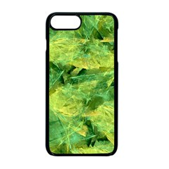 Green Springtime Leafs Apple Iphone 7 Plus Seamless Case (black)