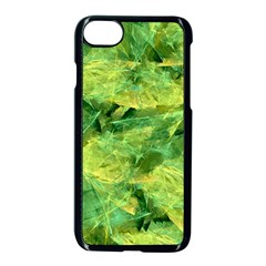 Green Springtime Leafs Apple Iphone 7 Seamless Case (black)