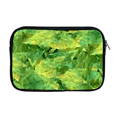 Green Springtime Leafs Apple Macbook Pro 17  Zipper Case