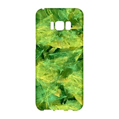 Green Springtime Leafs Samsung Galaxy S8 Hardshell Case