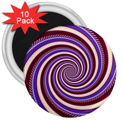 Woven Spiral 3  Magnets (10 Pack)