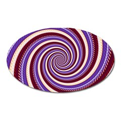 Woven Spiral Oval Magnet
