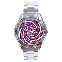 Woven Spiral Stainless Steel Analogue Watch