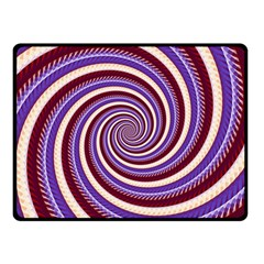 Woven Spiral Double Sided Fleece Blanket (small)
