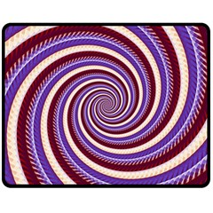 Woven Spiral Double Sided Fleece Blanket (medium)