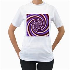 Woven Spiral Women s T Shirt (white)