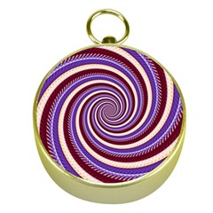 Woven Spiral Gold Compasses