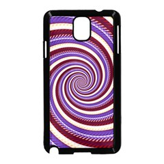 Woven Spiral Samsung Galaxy Note 3 Neo Hardshell Case (black)