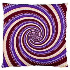 Woven Spiral Large Flano Cushion Case (two Sides)