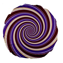 Woven Spiral Large 18  Premium Flano Round Cushions